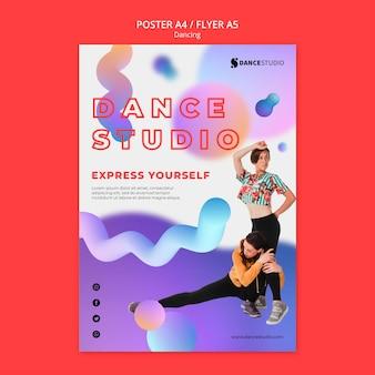 Szablon plakatu z tańcem