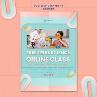 Szablon plakatu zajęć nauki