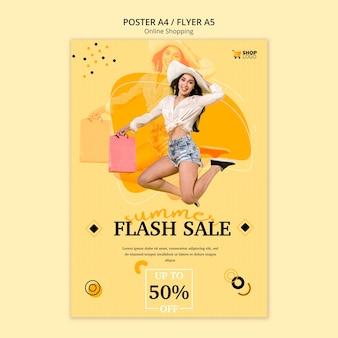 Szablon plakatu zakupy online