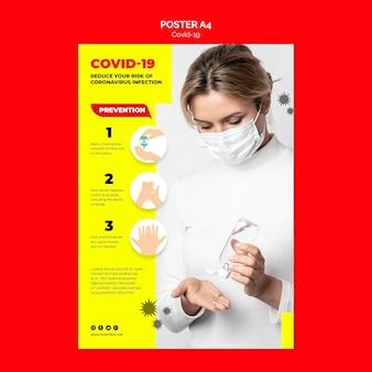 Szablon plakatu zapobiegania koronawirusa