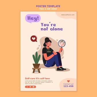 Szablon plakatu zdrowia psychicznego