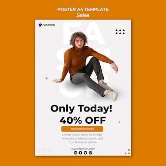 Szablon plakatu zniżki moda