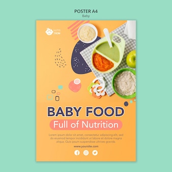Szablon plakatu żywności dla niemowląt