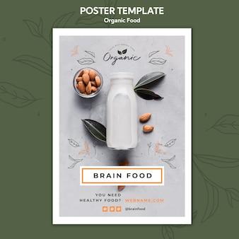 Szablon plakatu żywności ekologicznej