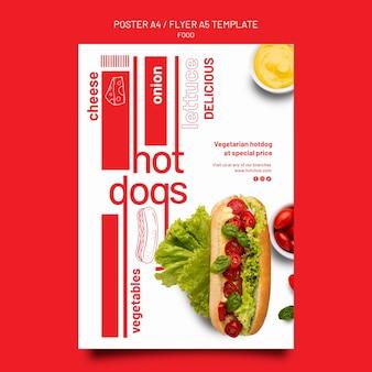 Szablon plakatu żywności i szablon projektu ulotki