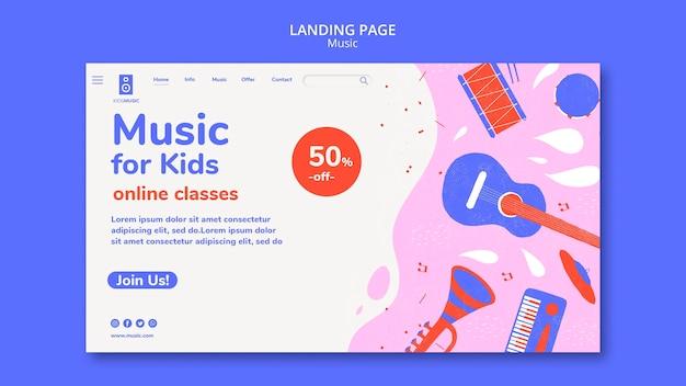 Szablon platformy muzycznej dla dzieci