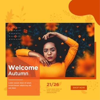 Szablon post instagram sprzedaży jesienią