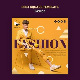 Szablon post moda kwadrat