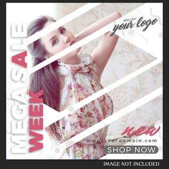 Szablon post mody sprzedaż instagram
