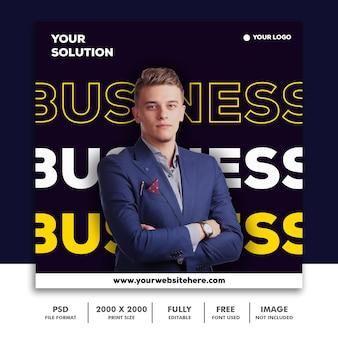 Szablon post square banner for instagram, business corporate