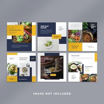 Szablon posta na instagram żywności