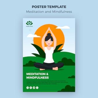 Szablon poste medytacji i uważności