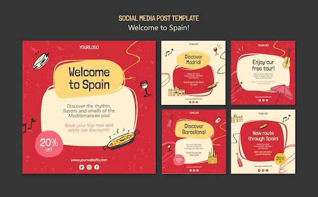 Szablon postów kultury hiszpanii