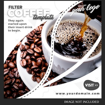 Szablon postu instagram do receptury na napoje lub styl życia