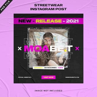 Szablon postu na instagramie urban fashion streetwear