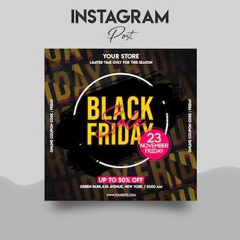 Szablon postu na instagramie w czarny piątek