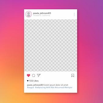 Szablon postu na instagramie