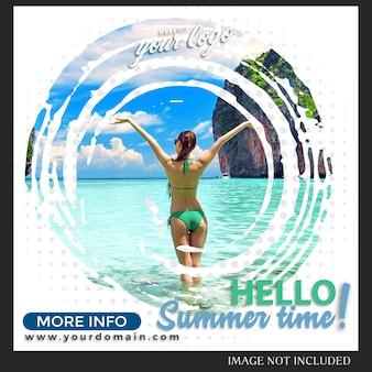 Szablon postu na letnie wakacje na instagramie