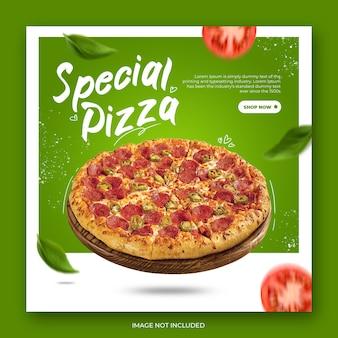 Szablon postu nowoczesnej pizzy na instagramie