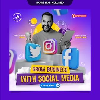 Szablon postu w mediach społecznościowych biznesowych