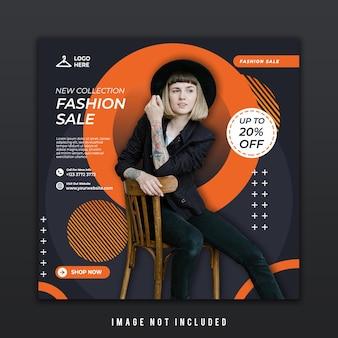 Szablon postu w mediach społecznościowych dla nowego trendu w modzie