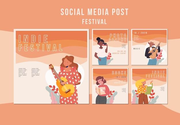 Szablon postu w mediach społecznościowych festiwalu
