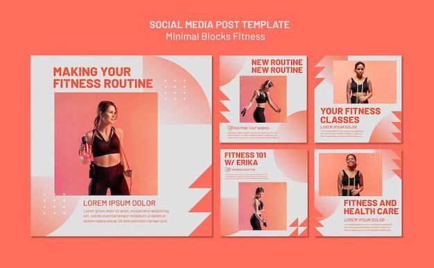 Szablon postu w mediach społecznościowych fitness