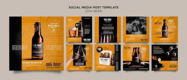 Szablon postu w mediach społecznościowych piwa ook