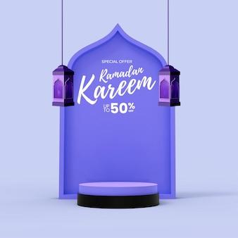 Szablon postu w mediach społecznościowych ramadan