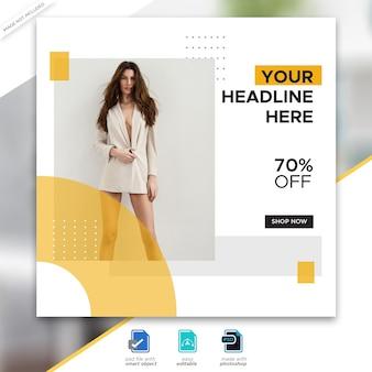 Szablon postu w mediach społecznościowych sprzedaży mody