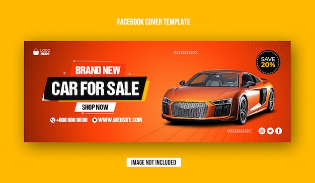 Szablon postu w mediach społecznościowych sprzedaży samochodów