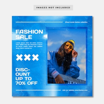 Szablon postu w mediach społecznościowych streetwear fashion