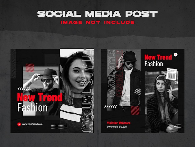 Szablon postu w mediach społecznościowych urban fashion