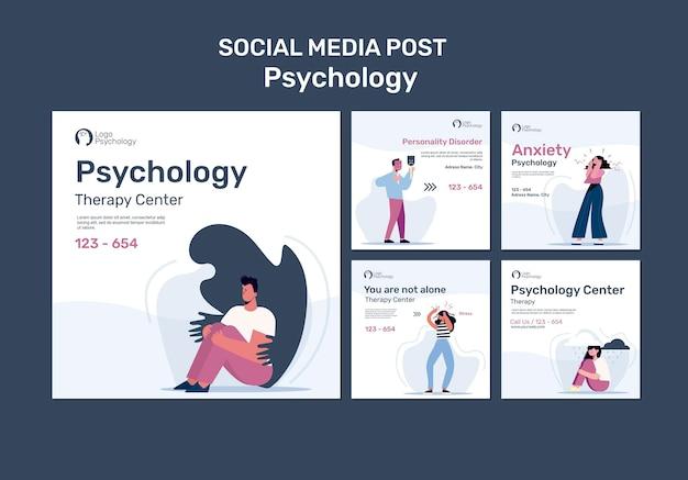 Szablon postu w mediach społecznościowych w centrum terapii