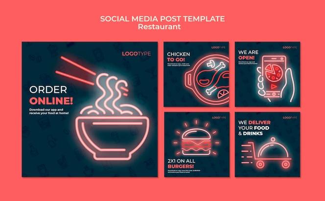 Szablon postu w mediach społecznościowych z dostawą