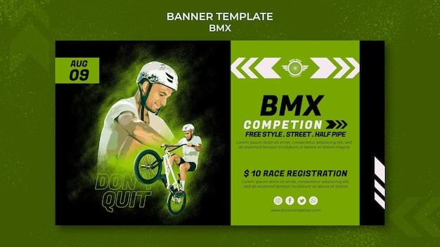 Szablon poziomego banera bmx