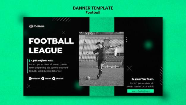 Szablon poziomego bannera piłki nożnej