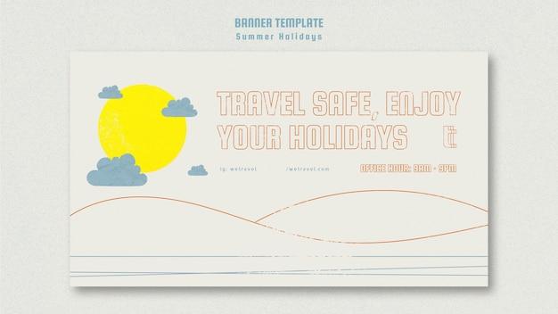 Szablon poziomy baner na letnie wakacje