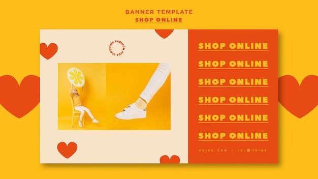 Szablon poziomy baner na zakupy online