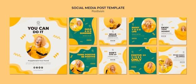 Szablon pozytywizmu dla postu w mediach społecznościowych