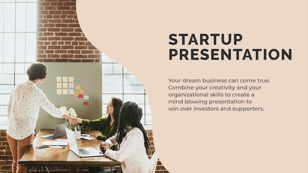 Szablon prezentacji startowej psd dla małych firm