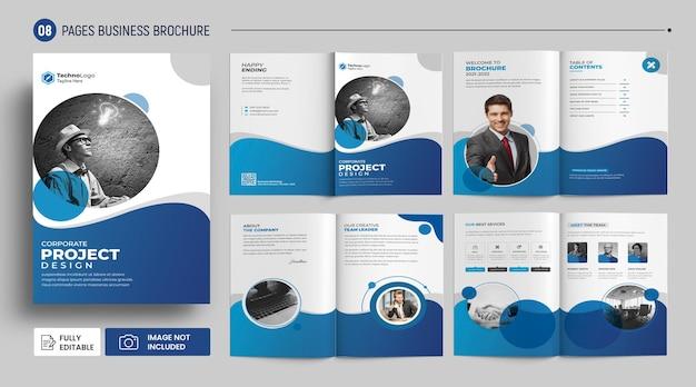 Szablon profilu biznesowego broszury firmy