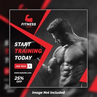 Szablon projekt psd fitness instagram banner