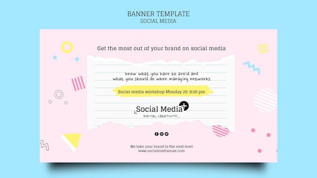 Szablon projektu banera agencji marketingowej w mediach społecznościowych
