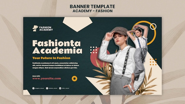 Szablon projektu banera akademii mody