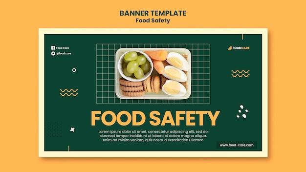 Szablon projektu banera bezpieczeństwa żywności