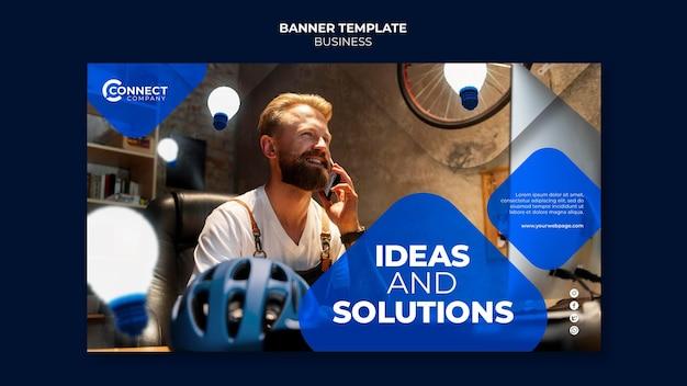 Szablon projektu banera biznesowego