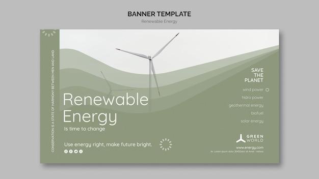 Szablon projektu banera energii odnawialnej
