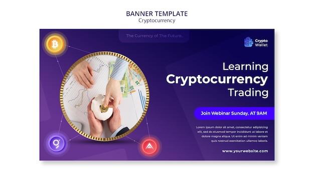 Szablon projektu banera kryptowalut