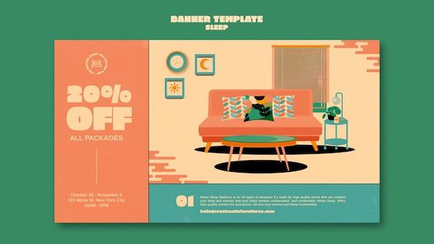 Szablon projektu banera mebli do spania